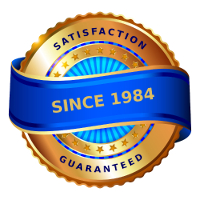Sound Feelings Publishing Satisfaction Guaranteed Emblem. Serving Customers since 1984